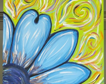 Blue Flower - Acrylic Canvas