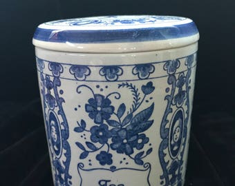 Blue Delft Tea Cannister