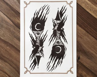 LIMITED Torchurches  - Tattoo print 50/50 signed