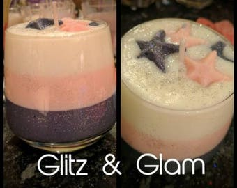 Glitz and glam candle