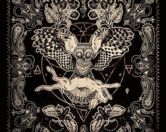 Rabbit Owl Bandana