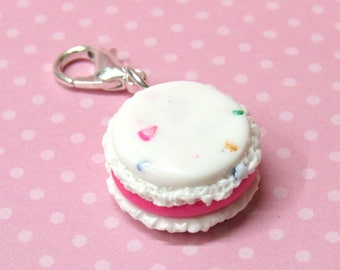 Macaron Charm, Polymer Clay Charm, Food Charm, Knitting Stitch Marker, Planner Charm, Progress Keeper, Rainbow Charm, Food Stitch Marker