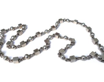 Necklace Taxco Sterling Beads TD-40 30-Inch