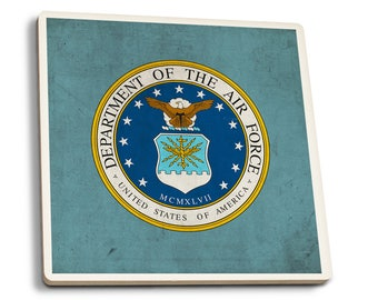Department of the Air Force - Military - Insignia (Set of 4 Ceramic Coasters)