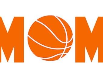 "FREE SHIPPING //  7.2x3"" Basketball Mom Sport Vinyl Decal - Team Spirit Decal - Little League - Team Mom - Car Decal"