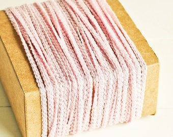 Braided Twine in Light Pink - 6 Yards - Pastel Baby Pink Cord Delicate Garland Pretty Packaging Gift Wrapping Wedding Party Decor