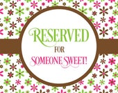 Reserved for Carrie