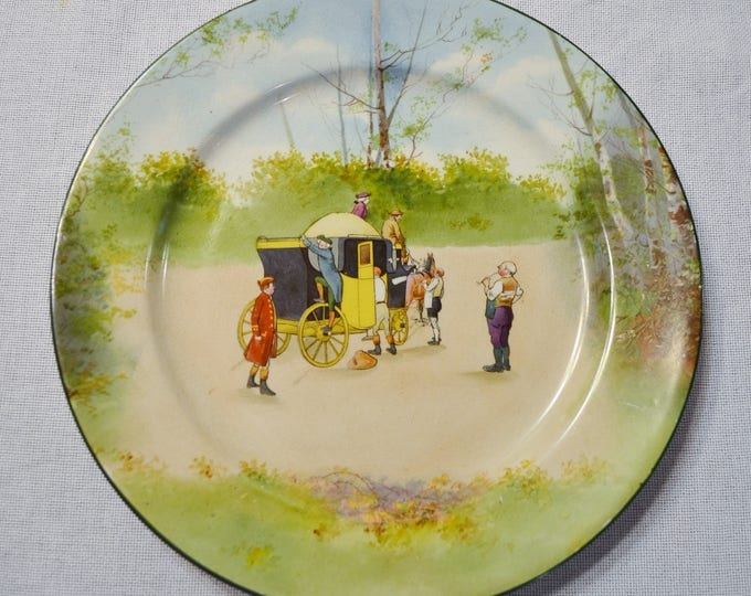 Vintage Royal Doulton Coaching Days Blue Sky Dinner Plate Scene No 4 Horse Carriage Scene Antique Series Victor Venner PanchosPorch