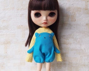Blythe dress/ OBAKE dress08/cotton/by T-kuma66