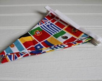 Handmade World Flags Bunting