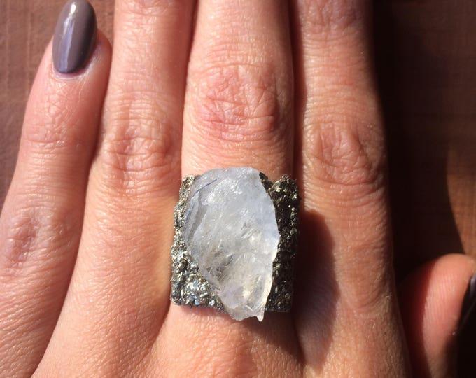 Quartz Pyrite Ring