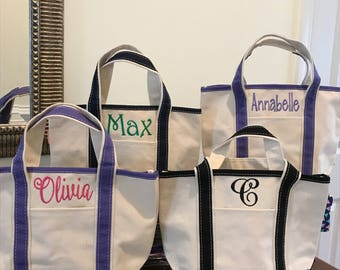 Monogrammed Tote Bag Canvas Open Handy Tote Personalized Bag Kaileys Monogram Kaileysmonogram