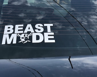 Raiders Beast Mode Vinyl Decal - Beast Mode Vinyl Decal - Oakland Raiders Decal - Raiders Decals  - Car Vinyl decal - iPad Decal