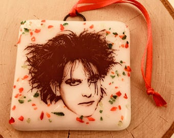 Robert Smith The Cure Christmas Ornament Fused Glass