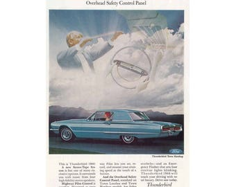 Vintage poster advertisement of a 1966 Ford Thunderbird - 28