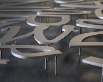 Custom Aluminum Stud Mounted Letters And Logos
