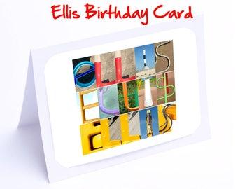 Ellis Personalised Birthday Card
