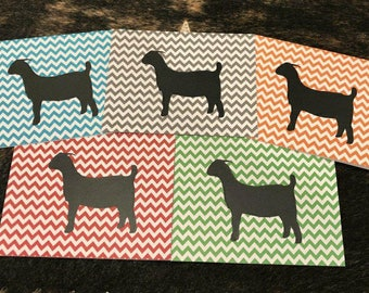 Show Goat Notecards