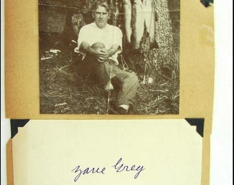 American Author Zane Grey Autograph 1931 Signed on Index Card