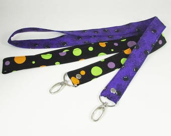 Halloween Keychain - Lanyards - Wristlet - Key Fob - Personalized Gift - Key Fob Wristlet - Teacher Gift - Lanyard for Badge Holder