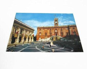 Vintage Postcard, The Capitol, Il Campidoglia Roma, Rome Italy, Post Card 328, Travel Souvenir, Historical Building, International PC Unused