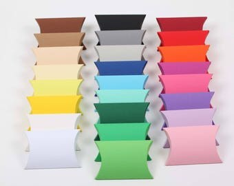 10 Pillow Box, Kisschenschachtel Farbe frei wählbar