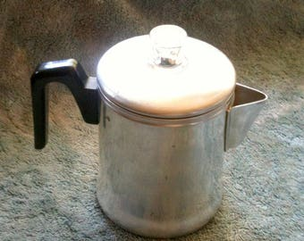 Vintage Percolator Coffee Pot Century Aluminum Ware Aluminum Coffee Pot Mid Century Camping Coffee Pot Retro Coffee Pot Retro Kitchen  H15