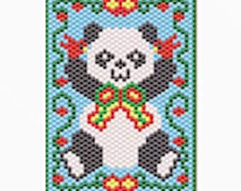 Christmas panda pony bead banner pattern