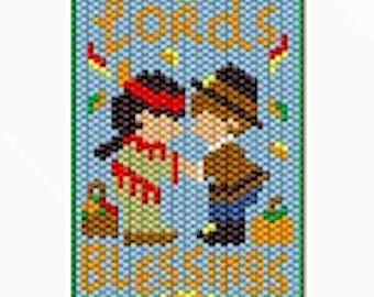 Lord's Blessings pony bead banner pattern