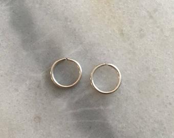 Platinum SINGLE Hoop Earring - 20 Gauge