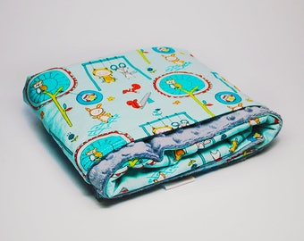 Playtime Baby Blanket - Baby Blanket with Playtime Theme - Minky Baby Blanket - Unisex Baby Gift - Stroller Blanket - Carseat Blanket