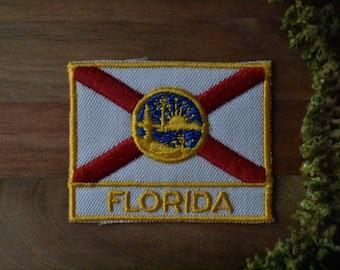 Vintage Florida Travel Patch - Flag