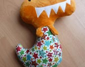 Dinosaur toy stuffed dinosaur plush dinosaur orange dinosaur CE tested baby toy boys toys girls toy
