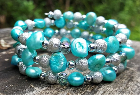 Tatiana's Stone Princess Memory Wire Bracelet (3 loops)