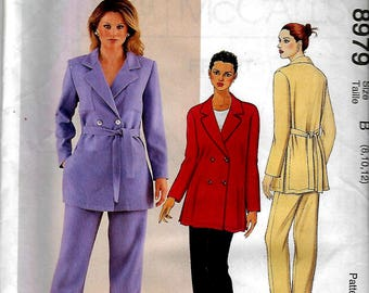 McCall's 8979       Misses Shirt-Jacket and Pull- On Pants   Size 8-12  Uncut