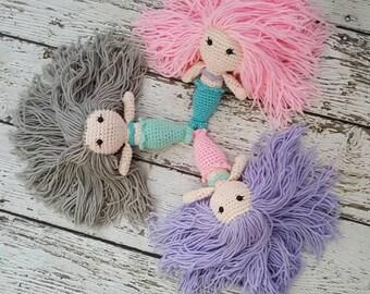 Mermaid crochet doll cute crochet amigurumi mermaid toy toddler child present birthday present Christmas present Christmas gift