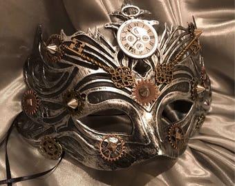 Masquerade Mask, Comic Con Mask, Cosplay Mask, Steampunk Mask, Mardi Gras Mask, Fantasy Mask, Steampunk Costume, Michanical, Cosplay, Unisex