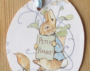 Tags Beatrix Potter, gift tags, Mr. Tod, tags, children's gift tags, handmade gift tags