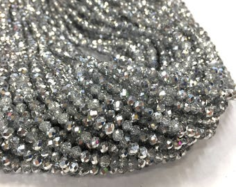 4mm Briolette Crystal Strands - 5 colours