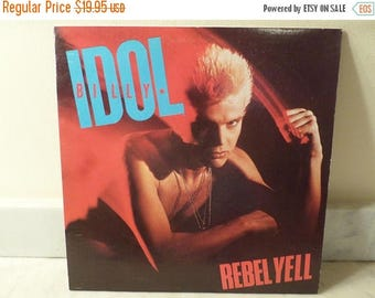 Save 30% Today Vintage 1983 LP Record Billy Idol Rebel Yell Chrysalis Records Near Mint Condition 14931