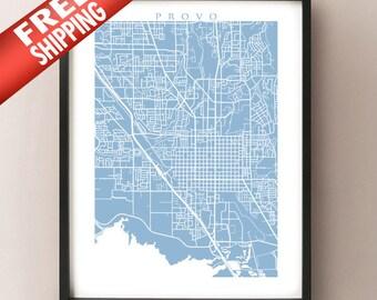 Provo, Utah Map Print
