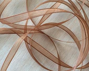 Brown chiffon Ribbon 423 elegant and translucent