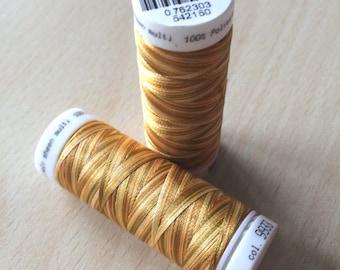 Multi color brown orange 9933 thread