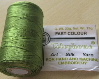 Rayon thread / artificial silk 221 pistachio