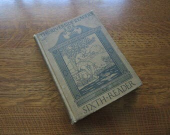 The Riverside Reader, Sixth, Vintage Book 1912, Grade 6 Reading, Literature, Antique School Textbook, Children,Classical Education,Riverside