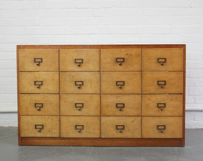 Bank Of Wooden Haberdashery Drawers Circa 1930s