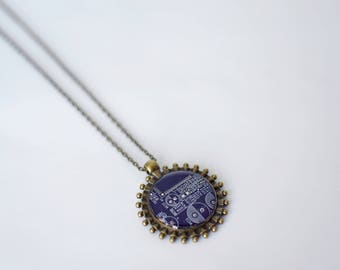 Unique pendant necklace. Recycled circuit board jewelry