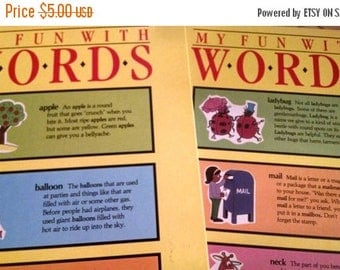Retrocon Sale - My Fun With Words children's two volume dictionary set excellent condition