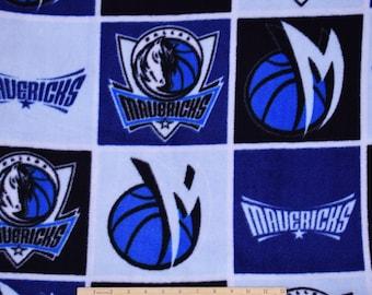 Dallas Mavericks Fabric FLEECE NBA Basketball Fabric