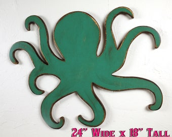 Nautical Theme Decor Nautical Boys Room Beach Decor Octopus Decor Octopus Wall Decor Octopus Wall Hanging Boys Room Decor Octopus Wood Sign